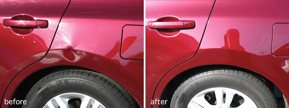 before and after auto body work chattanooga